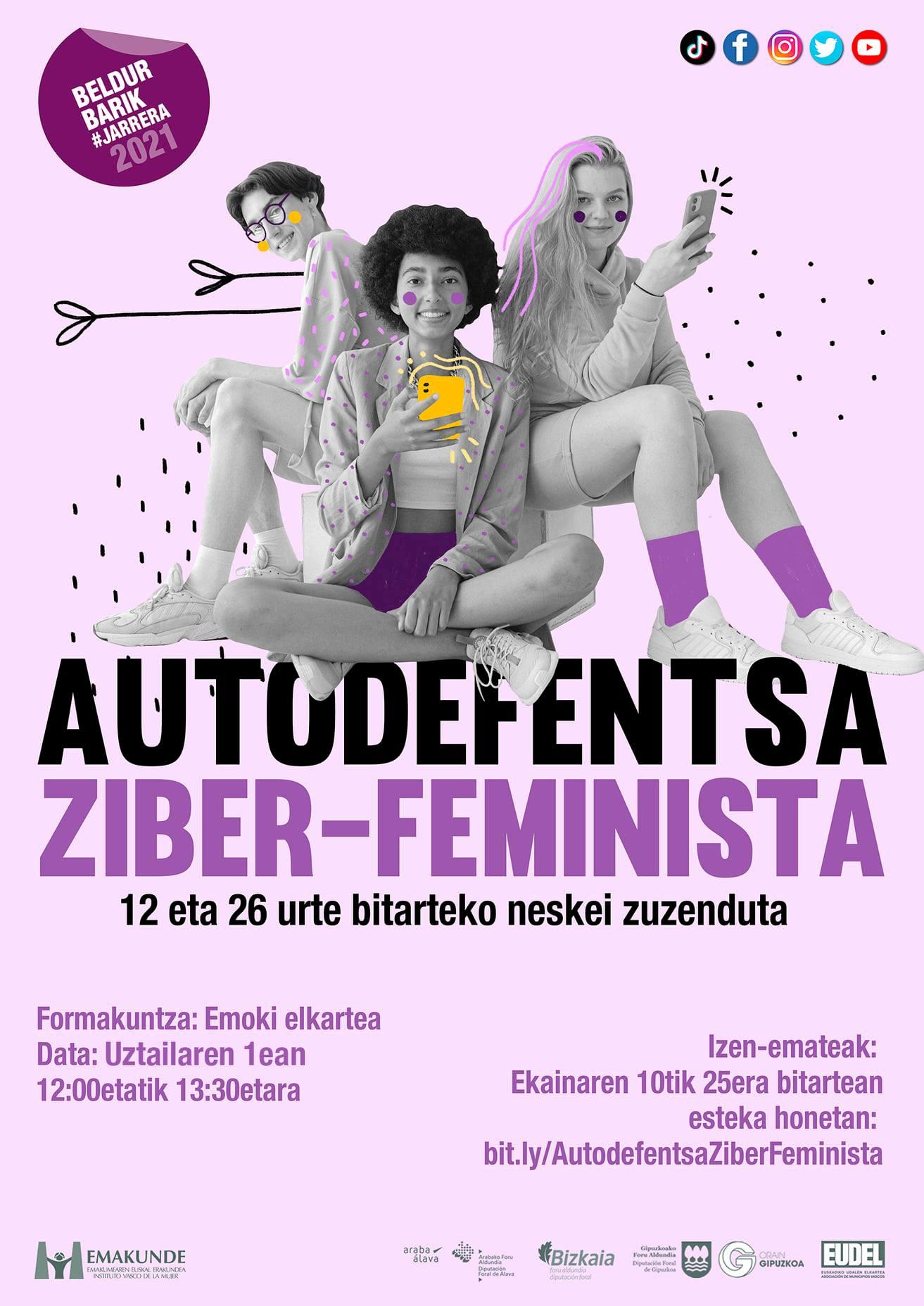 Autodefentsa Ziber-Feminista irudia - iragarkilaburrak.eus