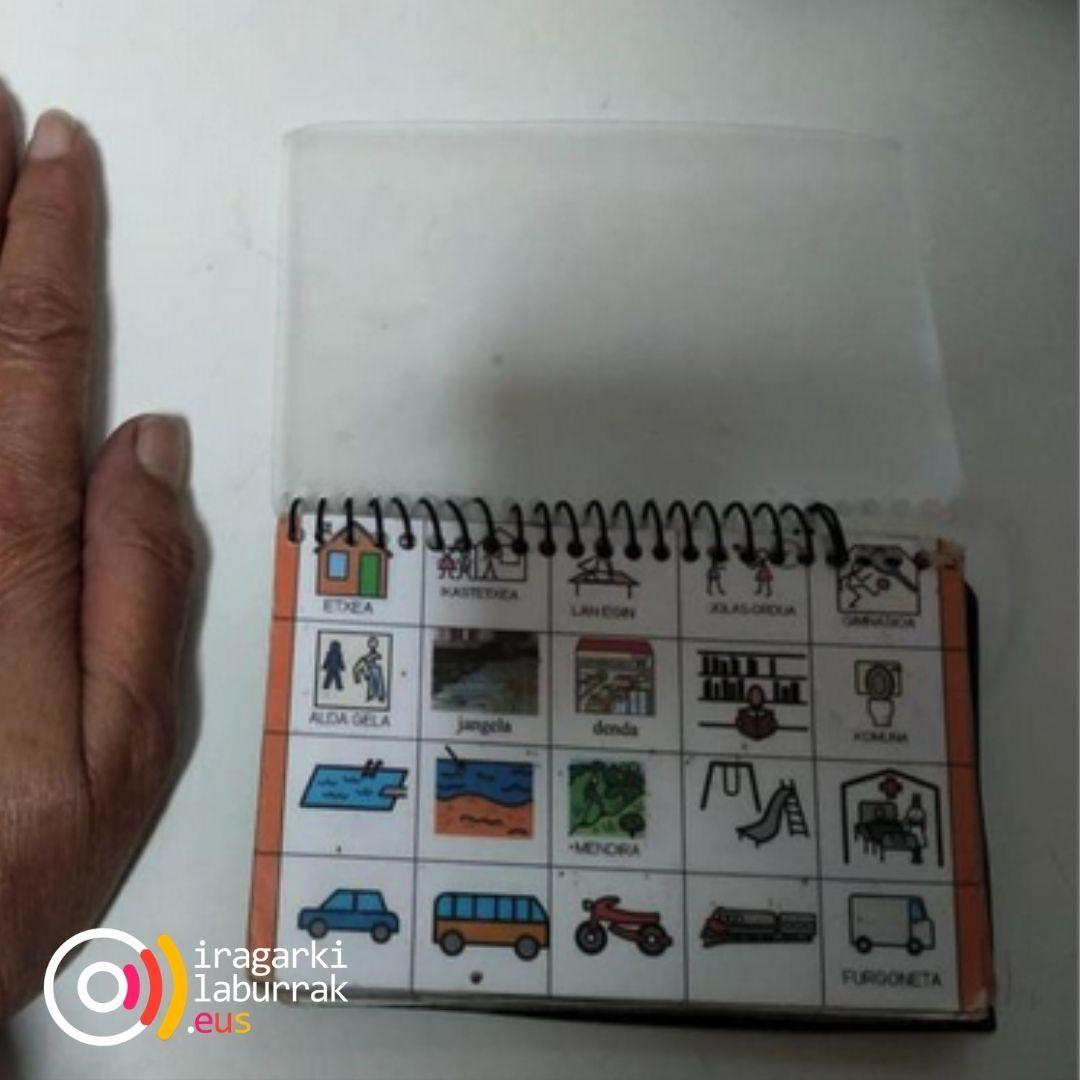 Piktograma komunikazio-koadernoa galdu dugu irudia - iragarkilaburrak.eus