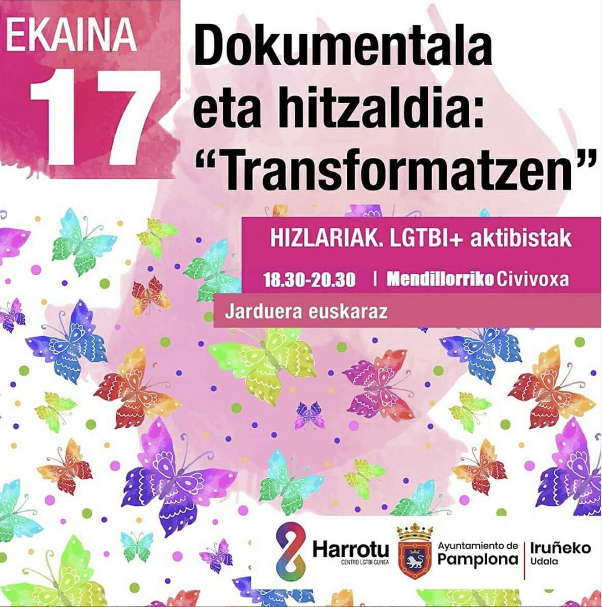 Ek.17: 'Transformatzen' dokumentala eta hitzaldia irudia - iragarkilaburrak.eus